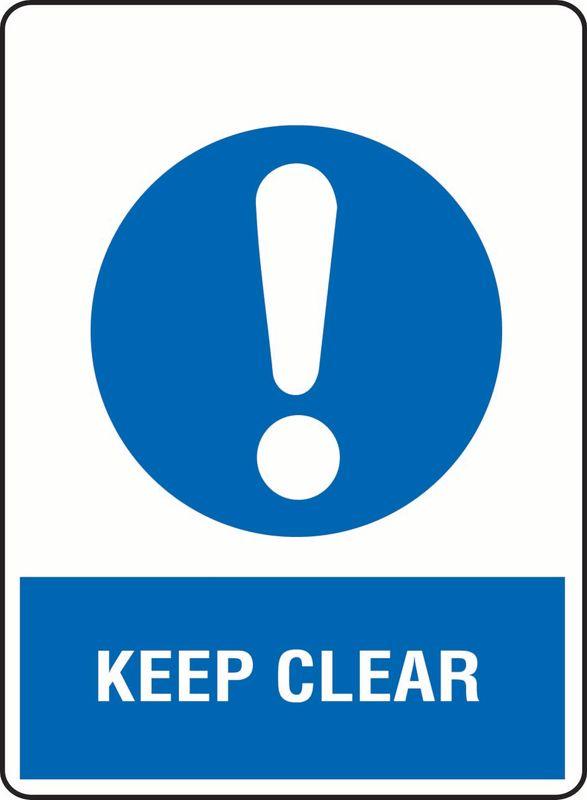 Keep Clear Coreflute