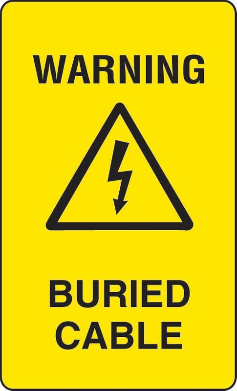 Warning Buried Cable Sticker