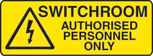 Switchroom Authorised Personnel Only ACM