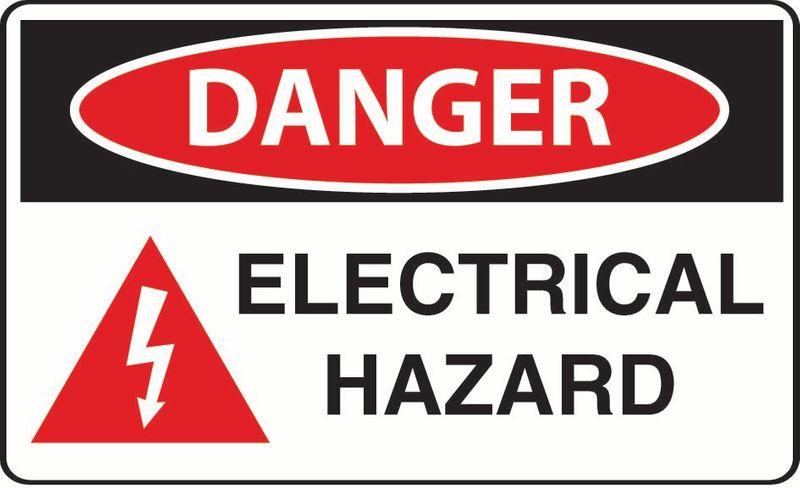 Danger Electrical Hazard ACM