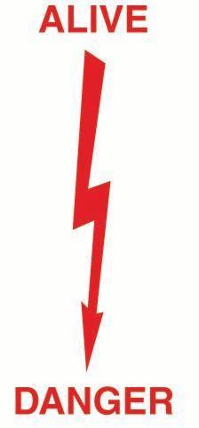 Alive Danger (Arrow) PVC