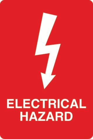 Electrical Hazard (Arrow) PVC