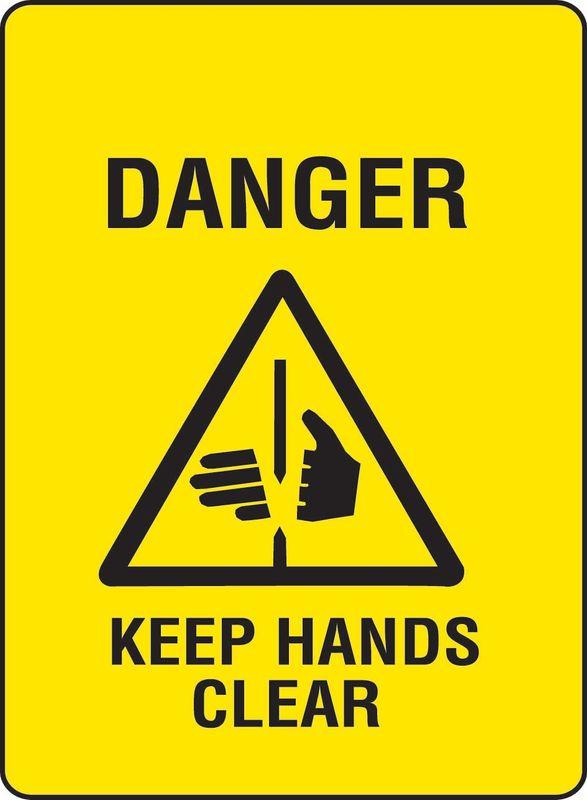 Danger Keep Hands Clear Sticker