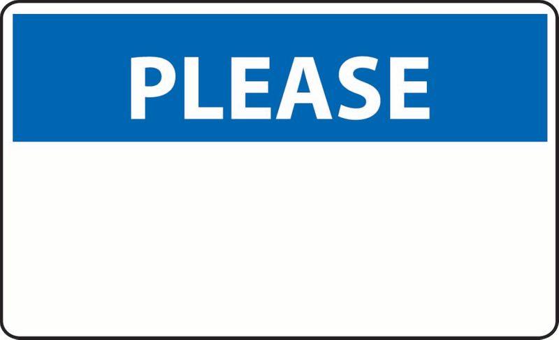 Please (Custom Message) PVC