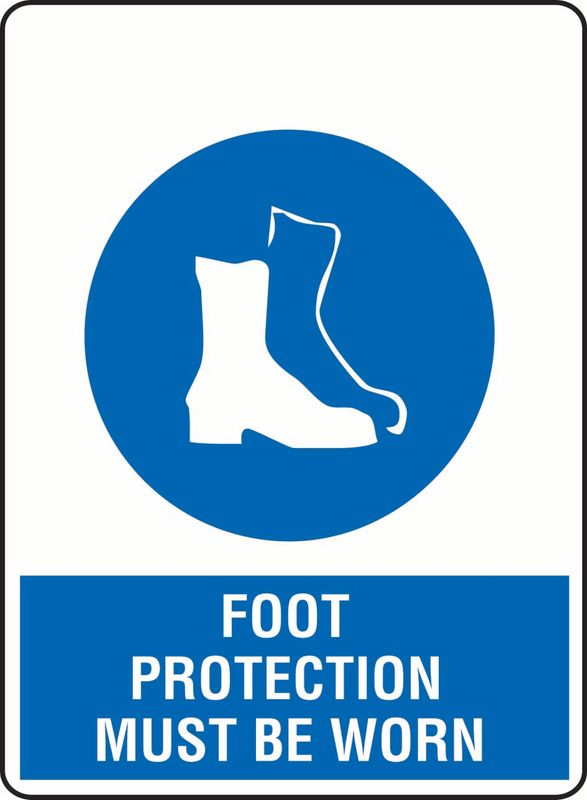 Foot Protection Must Be Worn ACM