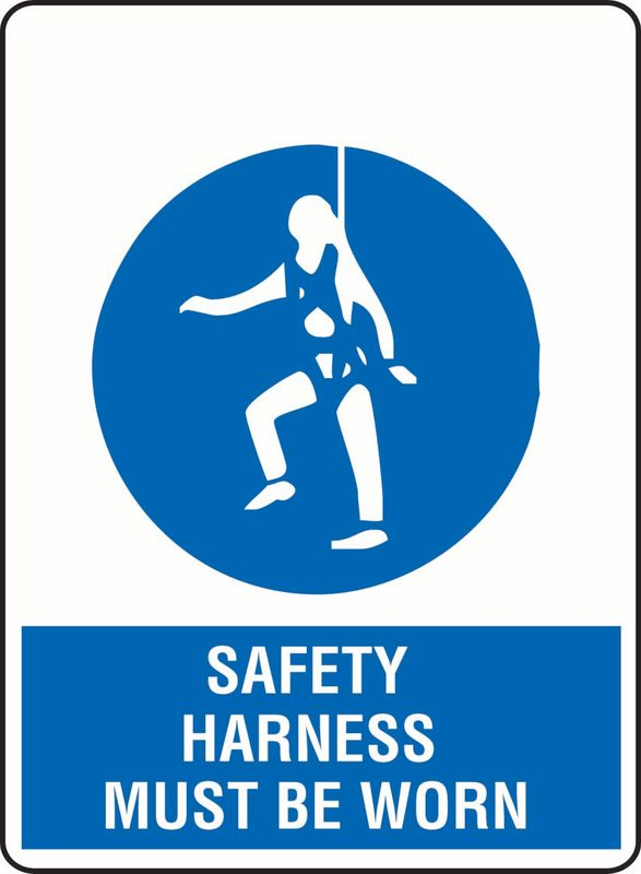 Safety Harness Must Be Worn ACM