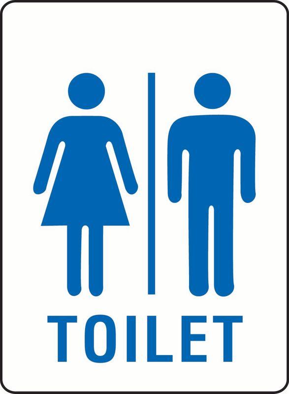 Toilet (Unisex) (Word Under Image) Coreflute