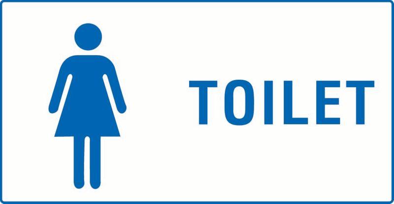 Toilet (Female) (Word Next To Image) PVC
