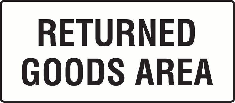 Returned Goods Area PVC