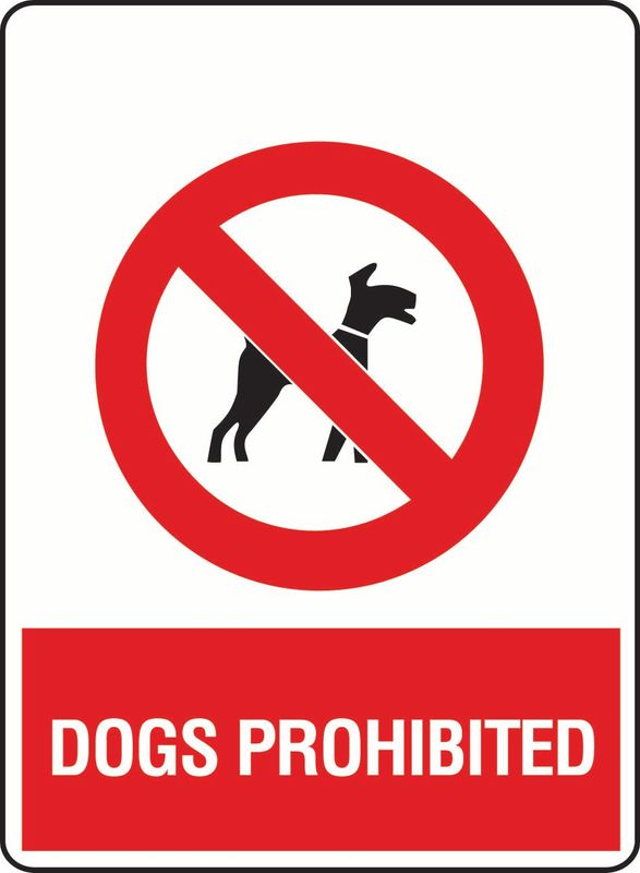 Dogs Prohibited PVC