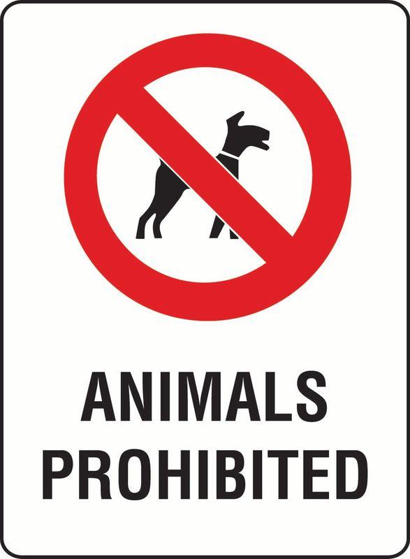 Animals Prohibited PVC