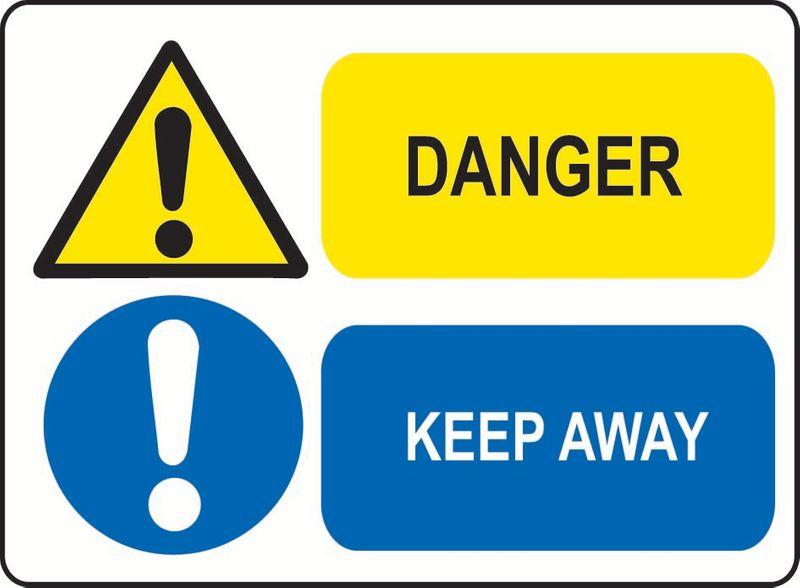 Danger, Keep Away Coreflute
