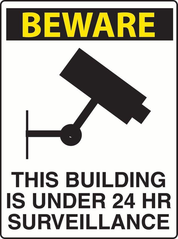 Beware This Building Is Under 24 Hr Surveillance Coreflute