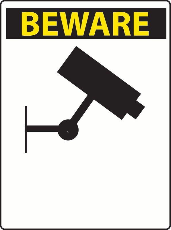 Beware (Custom Message) (Camera) Sticker