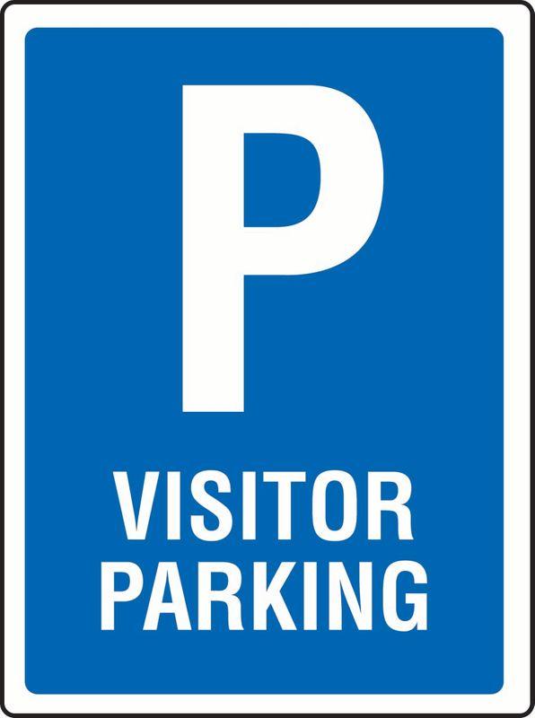 P Visitor Parking Coreflute