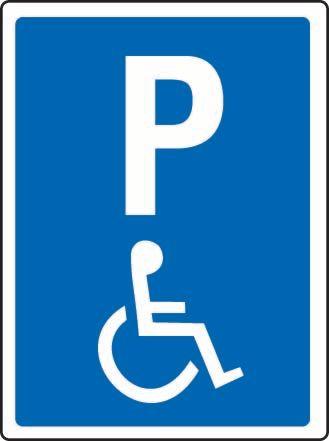 P (Wheelchair) Sticker