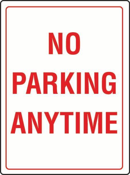 No Parking Anytime Sticker