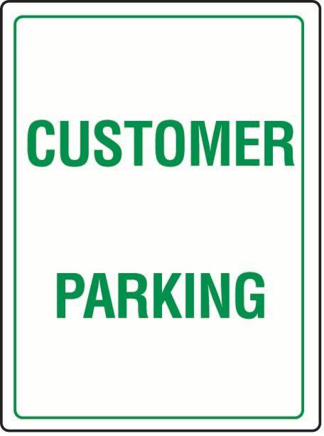 Customer Parking Sticker