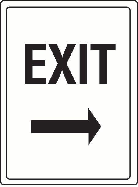 Exit (Right Arrow) Coreflute