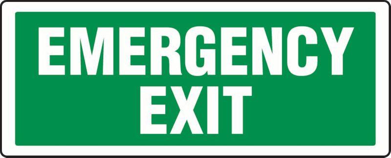 Emergency Exit PVC