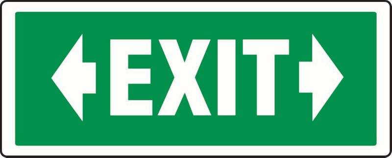 Exit (Left And Right Arrows) Coreflute