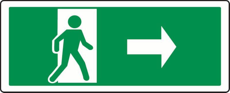 (Person Exiting Through Door, Right) PVC