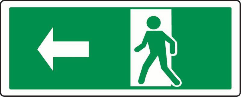 (Person Exiting Through Door, Left) PVC