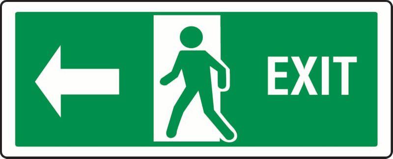 Exit (Person Exiting Through Door, Left) PVC