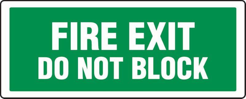 Fire Exit Do Not Block ACM