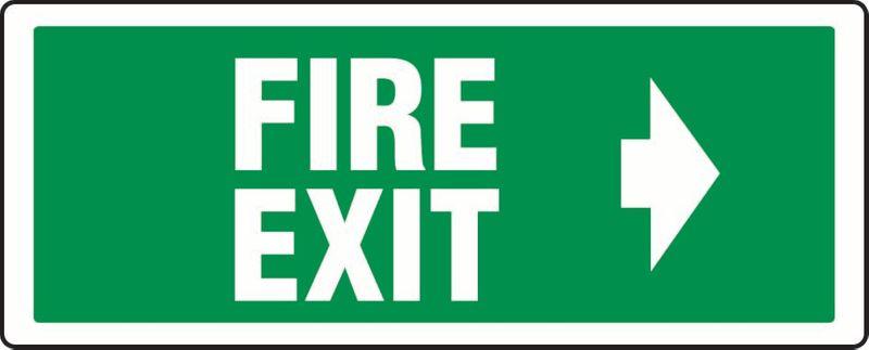 Fire Exit (Right Arrow) PVC