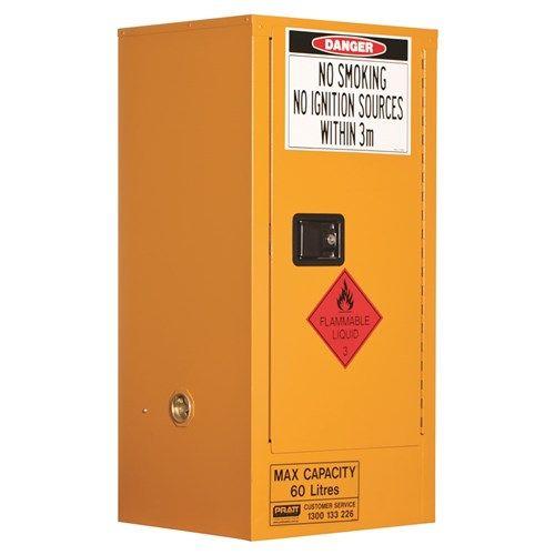 Flammable Storage Cabinet 1 Door, 2 Shelf 60L Class 3 Flammable Liquid