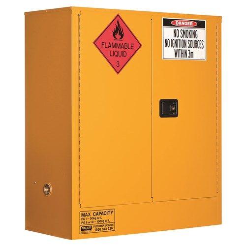 Flammable Storage Cabinet 2 Door, 2 Shelf 160L Class 3 Flammable Liquid