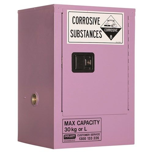 Corrosive Storage Cabinet 30L 1Door, 1 Shelf Class 8 Corrosive Metal