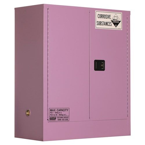 Corrosive Storage Cabinet 160L 2 Door, 2 Shelf Class 8 Corrosive Metal