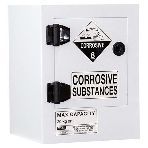 Poly Corrosive Cabinet 20L 1 Door 1 Shelf Class 8