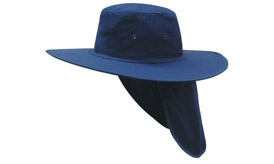 Headwear Canvas Sun Hat With Flap