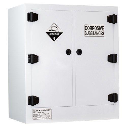 Poly Corrosive Cabinet 160L 2 Door, 4 Shelf Class 8