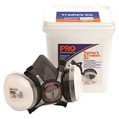 Pro Choice Half Mask Assembed with A1P2 Cartridges & Bucket