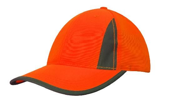 Headwear Luminescent Safety Cap with Reflective Inserts and Trim