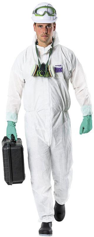 Esko Titan 340 SMS Type 5 And 6 Asbestos Polypropylene Coverall White