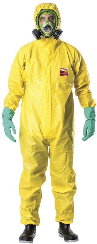 Esko Titan 460 Chemical Protection Suit Biohazard Chemical And Infection Protection Yellow
