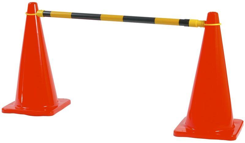 Esko Extendable Cone Bar Yellow/Black 1.2m - 2.1m