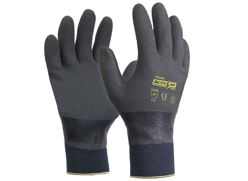 Esko Towa Activgrip 503 HD Nitrile Fully Dipped Glove With Microfinish Coating