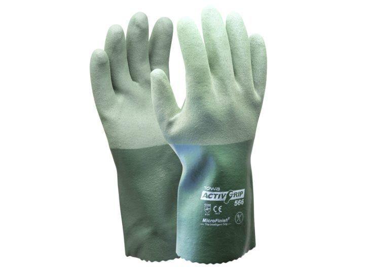 Esko Towa Activgrip Nitrile Chemical Glove On Polycotton With Microfinish