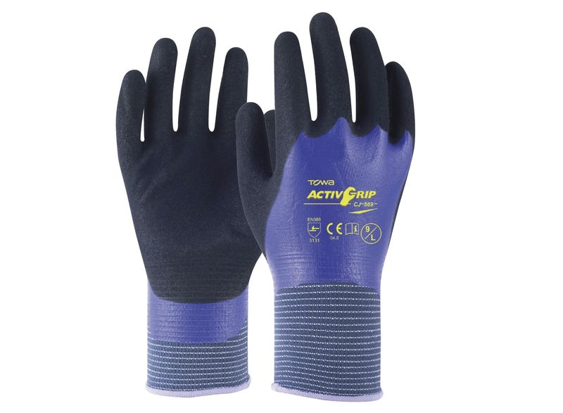 Esko Towa Activgrip 569 Fully Coated To Provide 360° Protection In Wet And Oily Conditions