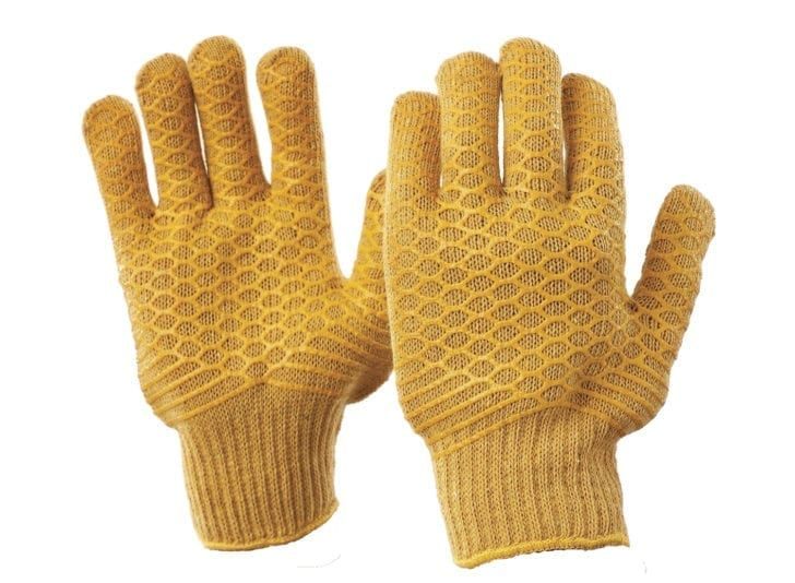 Esko PVC Honey Comb Patterned Specialty Coated Polycotton Yellow