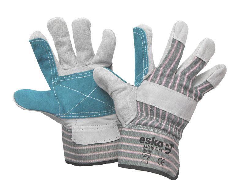 Esko Reinforced Heavy Duty Leather/Cotton Glove Safety Cuff