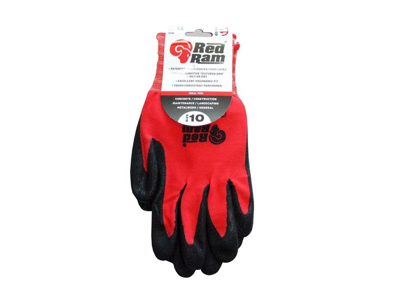 Esko Red Ram Sandy Latex Coat With Red Polyamide Liner With Header Card Black