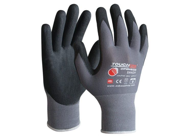 Esko Touchline Openside Nitrile 1/2 Dip Foam Coat On Spandex Gloves