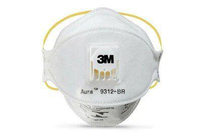 3M 9312A Aura Flat Fold Particulate Respirator with Valve P1 Comfort Plus Series
